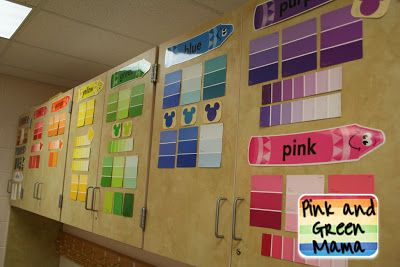 Pink and Green Mama: * Setting Up The Kindergarten Classroom: Reading Pillows, Bulletin Boards, Curtains, and More!