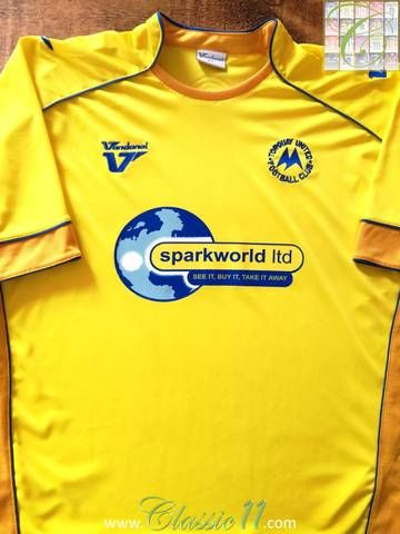 Official Vandanel Torquay United home football shirt from the 2010/11 season.