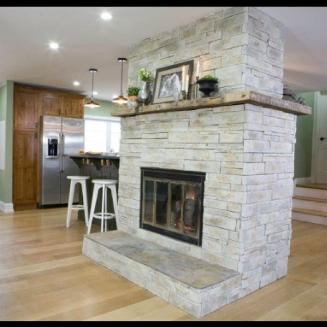 Dream fireplace from hgtv kitchen cousins