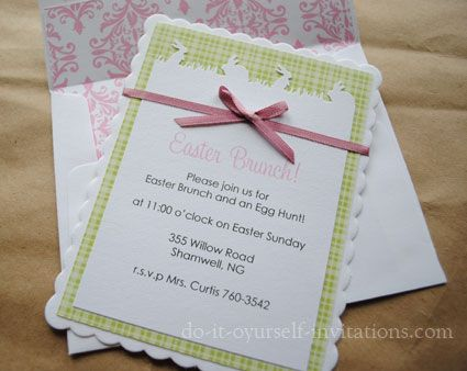 91 best invitations images on pinterest invitations birthdays and diy easter brunch invitations by do it yourself invitations layer white cardstock with a spring solutioingenieria Images