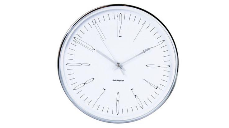 Home :: Homewares :: Decorator Items :: Clocks :: Zone 40cm Metallic Metal Clock Silver
