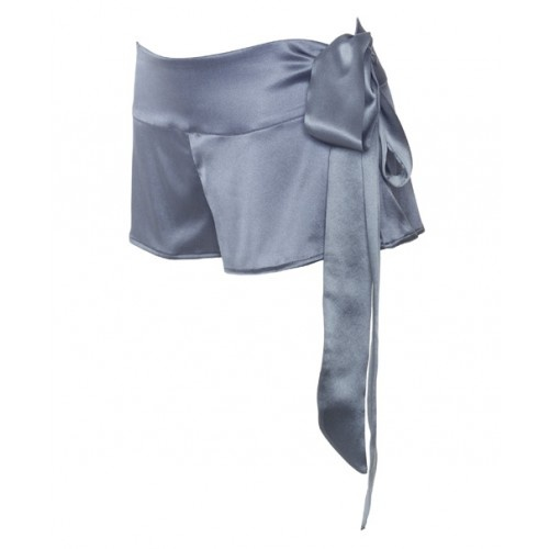Silk graphite yoga shorts from MC Lounge AW12 collection