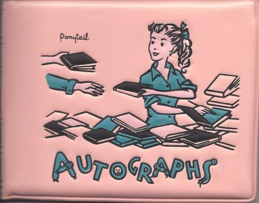 Vinyl autograph book...get a autograph and fold the page diagonally.