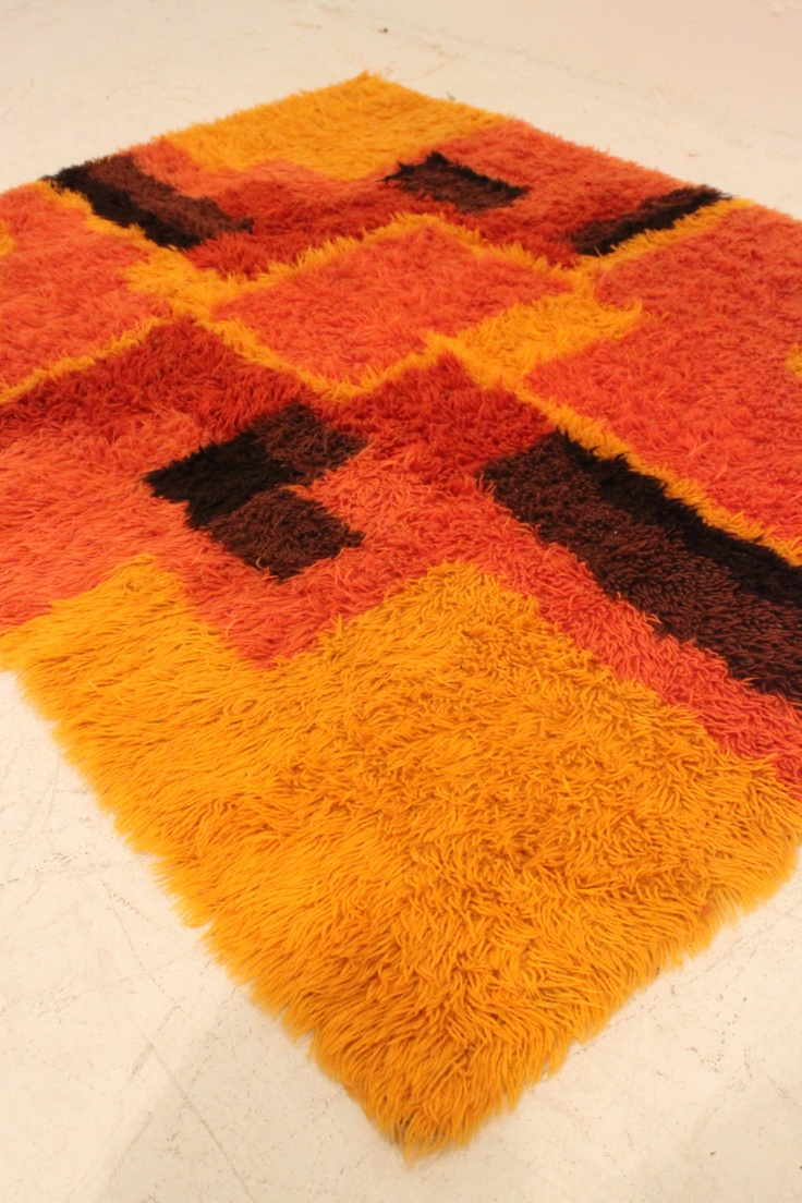 orange rya rug