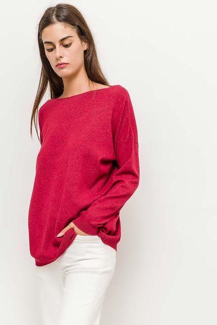 0732b597d281 Klasický dámsky červený sveter