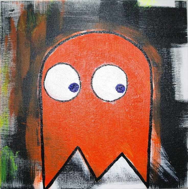 Ghost One by MiVE  Pacman inspired painting