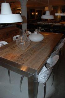 SILO 6   Oude robuust eiken tafels en eettafels in Harderwijk Gelderland, Utrecht en Flevoland