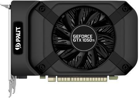 Palit GeForce GTX 1050 Ti 1290Mhz PCI-E 3.0 4096Mb 7000Mhz 128 bit DVI HDMI HDCP StormX  — 10290 руб. —