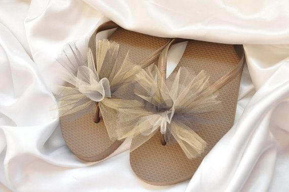 Custom WEDDING Flip Flops BRIDESMAID Flip by BrooklynsBowsNToes, $12.00