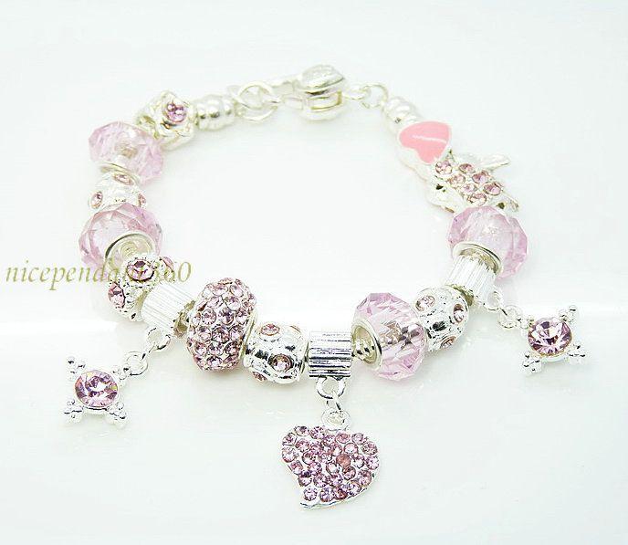 174 best european bracelet ideas images on pinterest pandora hot wholesale european murano glass crystal beads 925 sterling silver charm bracelet mozeypictures Gallery