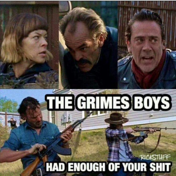 The Walking Dead #grimesboys #rick #coral aka #carl #twd