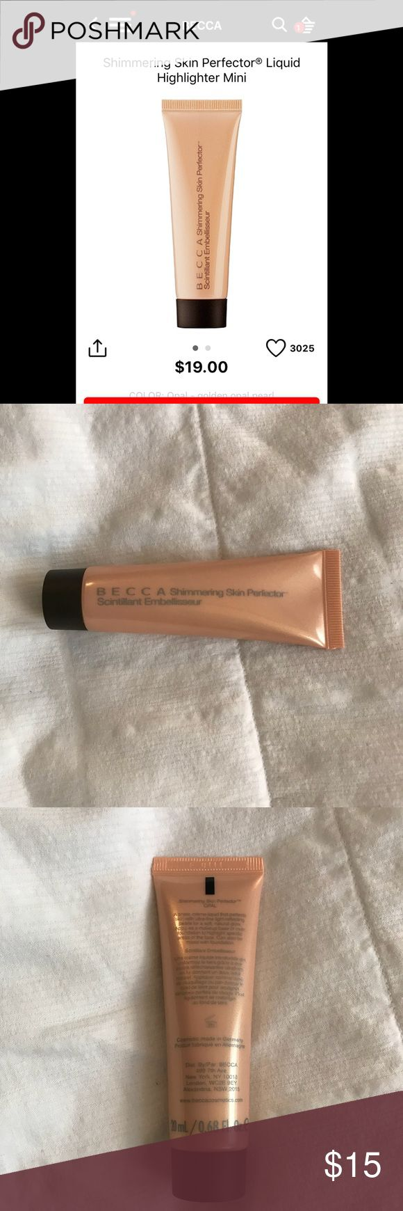 Becca Shimmering Skin Perfector Liquid in Opal Becca Shimmering Skin Perfector Liquid in Opal highlighter. Brand new from Sephora. Sephora Makeup