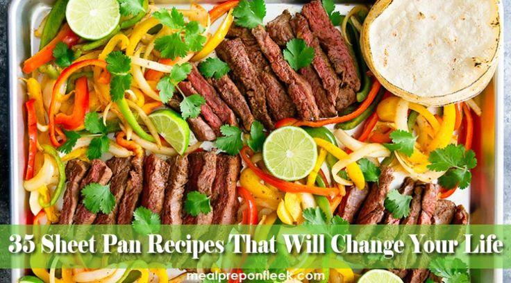 35 one pan meal prep recipes sheet pan meals!