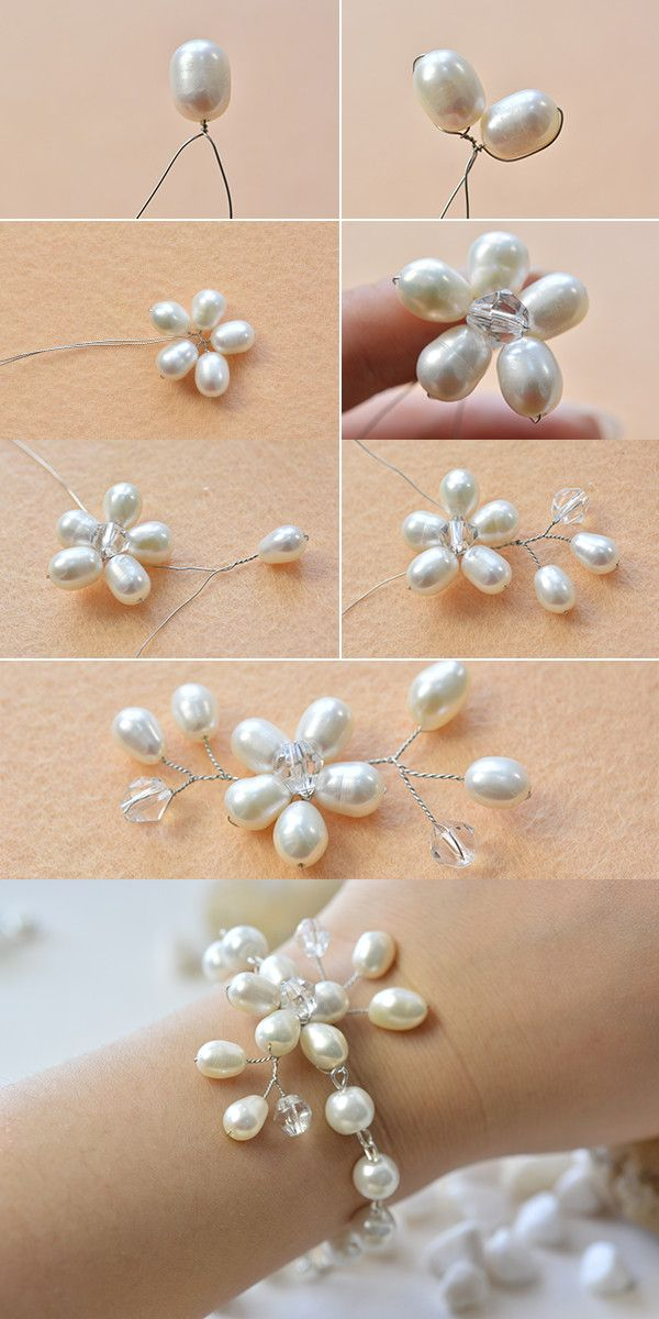 wire and pearl beads bracelet, like this one? LC.Pandahall.com will publish the…