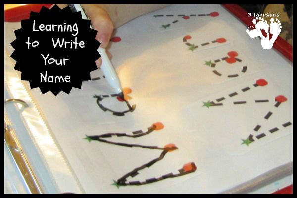 Learning to Write Your Name - 3Dinosaurs.com