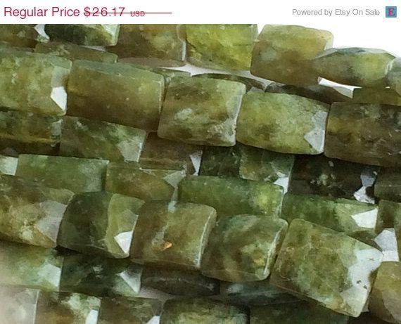 ON SALE 40% Vasonite Bead Faceted Vessonite Green by gemsforjewels