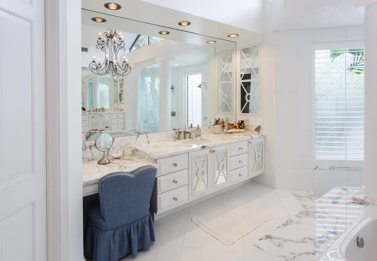 Gorgeous White Marble Bathroom #bathroom #countertop #counter #top #vanity #southflorida #bocaraton #marble #statuario #white #natureofmarble #marblecounter #marblebathroom