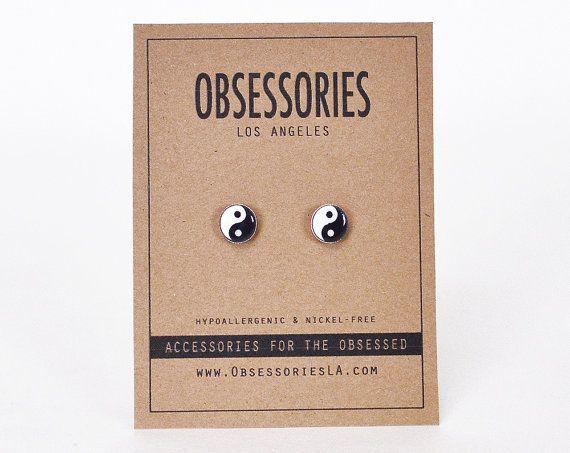 Yin Yang Earrings Yin & Yang Earrings Ying Yang by ObsessoriesLA