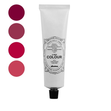 A New Colour Red.    Ammonia free colour cream enriched with carotenoids and melanin for a strong anti-oxidant action that is able to cover perfectly white hair, to lighten up to three levels to darken and to change the reflex.
