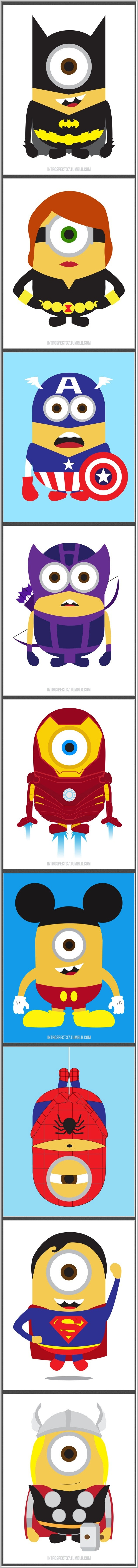 Minions Superheroes