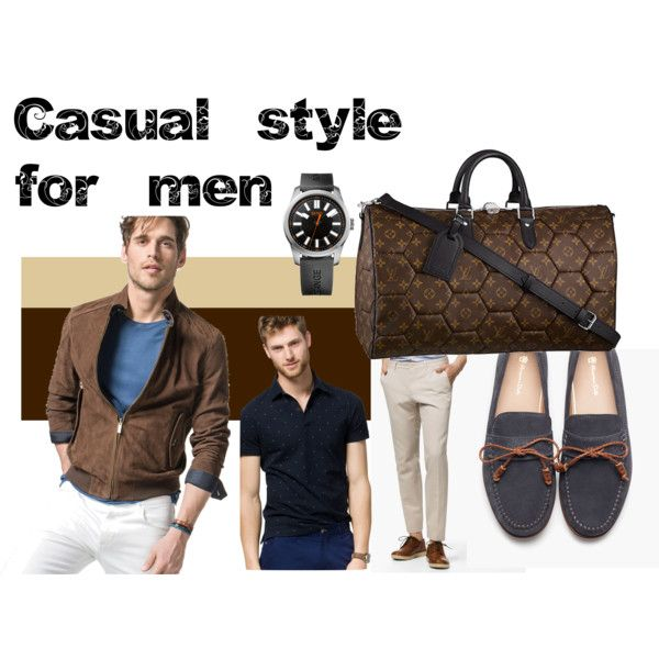 Casual style for men by cbccbc on Polyvore featuring moda, BOSS Orange and Louis Vuitton