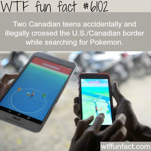 Two Canadian teenagers crossed the borders because Pokemon- WTF fun facts