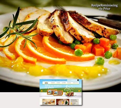 Marinated chicken with orange sauce