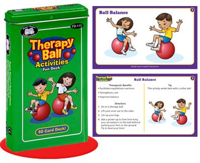 Therapy Ball Activity Cards  - Re-pinned by @PediaStaff – Please Visit ht.ly/63sNt for all our pediatric therapy pins