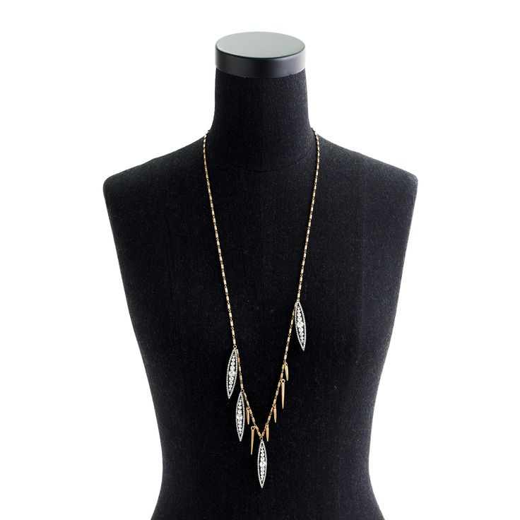 Long crystal floret necklace : jewelry | J.Crew