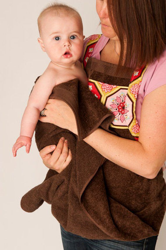 Baby Bath Apron Towel and Mitt PDF SEWING PATTERN - Instant Download ...