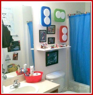 Lego Bathroom Decor Makeover DIY