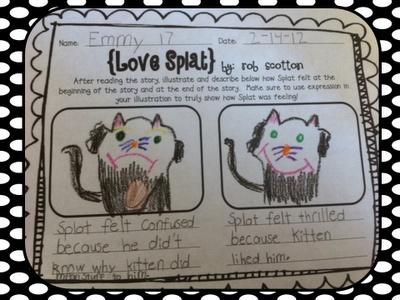 Splat the cat writing activities