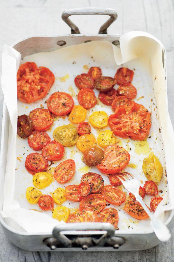 Gemarineerde tomaten uit de oven | ELLE Eten