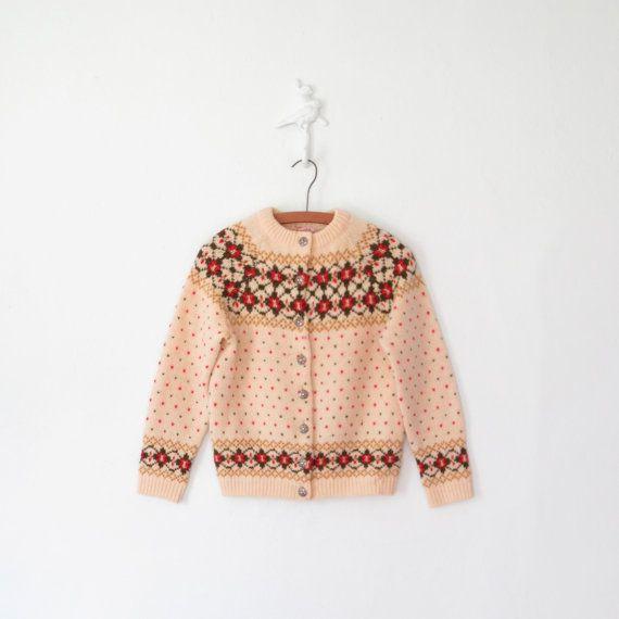 Fairisle Cardigan Sweater // Nordic Fair by sparvintheieletree, $58.00