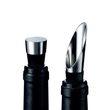 Komplet nalewak + korek do butelki - GRAND CRU - DECO Salon. Great gift for any wine lover #rosendahl #wineaccessories #giftidea #gift #naprezent