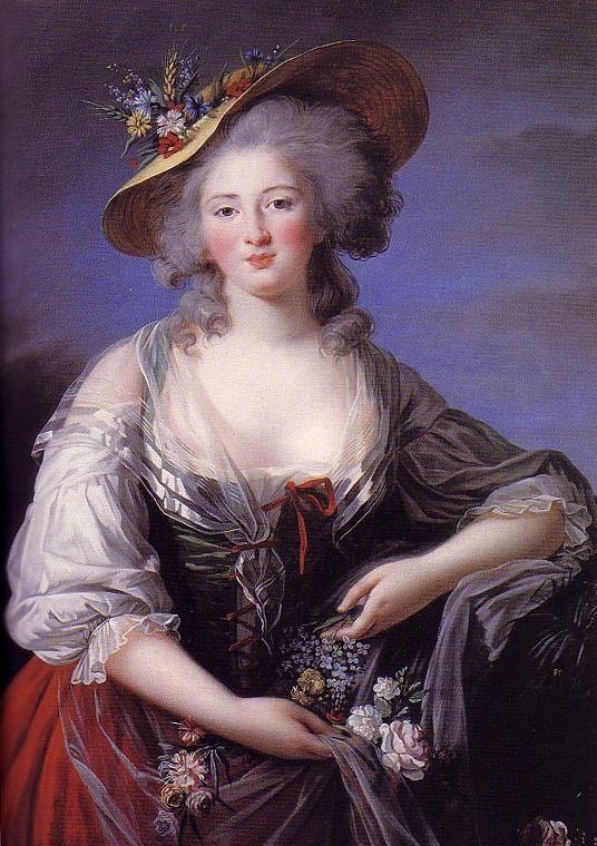 Madame Elisabeth of France, 1782, by Élisabeth-Louise Vigée-Le Brun.