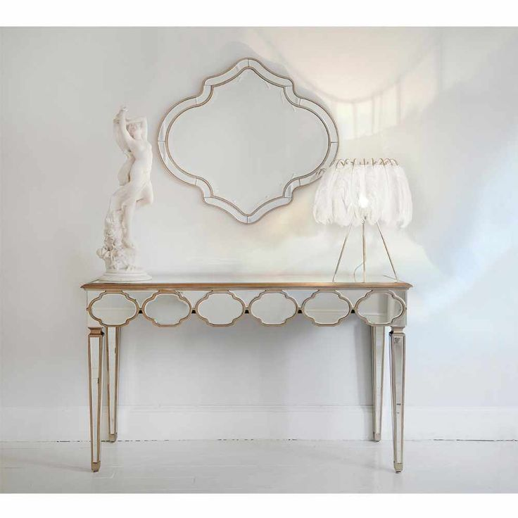 Alameda Mirrored Console Table. 344 best Gold French Bedroom Furniture and Accessories images on