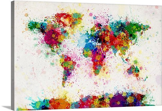117 best map art images on pinterest world map of paint drops by michael tompsett via greatbigcanvas available at greatbigcanvas gumiabroncs Choice Image