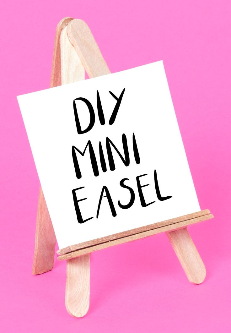 Craft a mini easel out of lolly stick, wooden stick craft idea, display your art on this DIY easel, kids crafts
