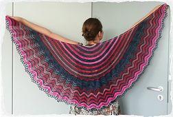 Audrey Shawl free pattern