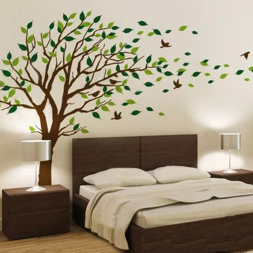 adesivo de parede decorativo arvore grande 2.00 mt proporção