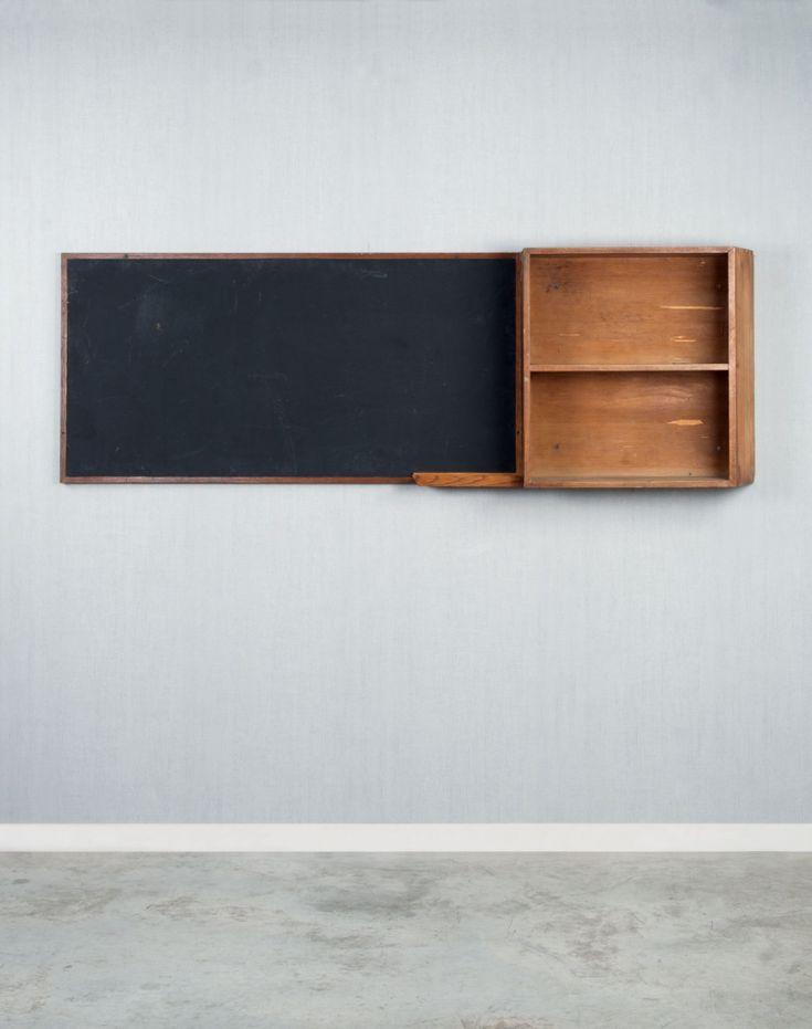 Charlotte Perriand & Le Corbu: Oak chalk board, Brazil House, Cité Universitaire, Paris, 1959.