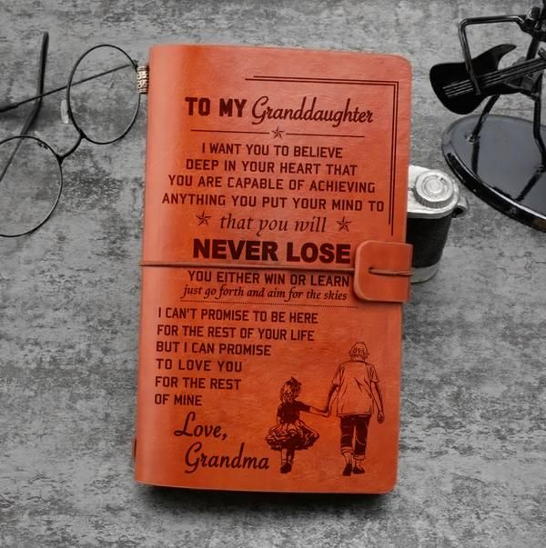 M9 Granddaughter Grandma Never Lose Vintage Journal Free Shipping From 2 Items Vintage Journal Journal Family Quotes
