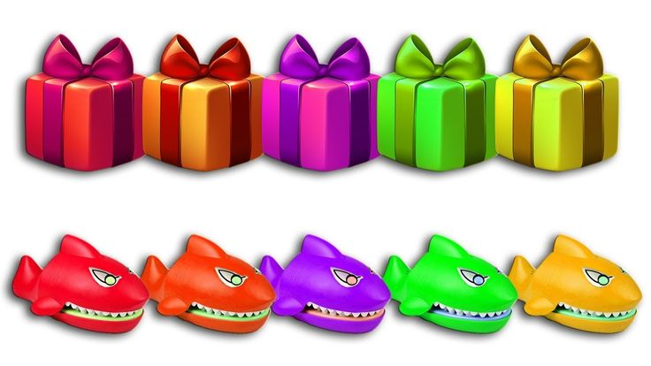 Learn Colors With Crocodile Dentist and Christmas Gift - Merry Christmas...