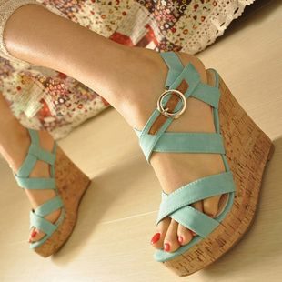 Envío gratis 2013 verano sandalias de mujer de cosecha de alta plataforma de tacón zapatos de plataforma de