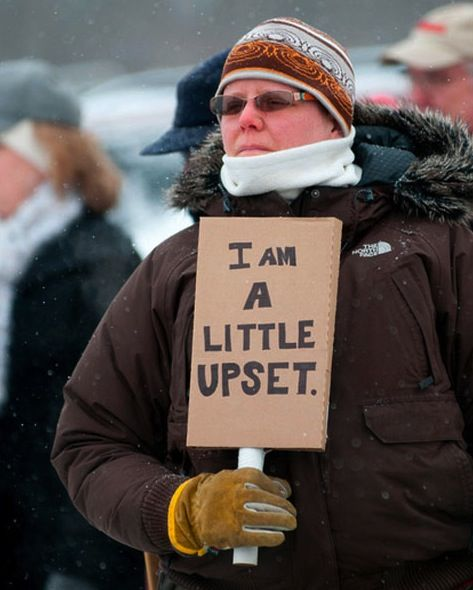 Canadian protester.