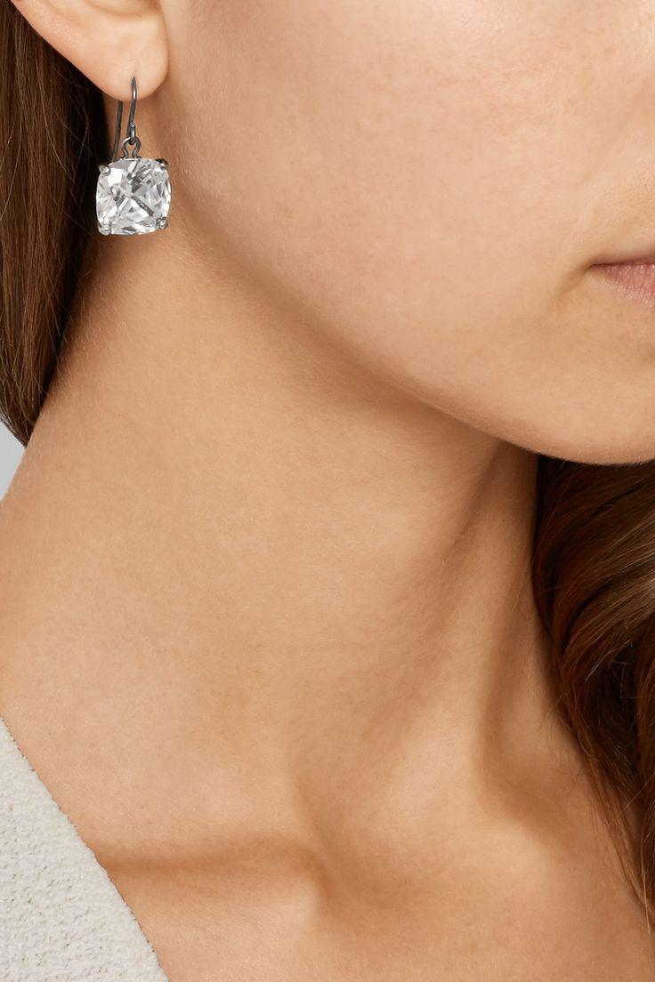Bottega Veneta Cubic Zirconia silver earrings gYNMjrv