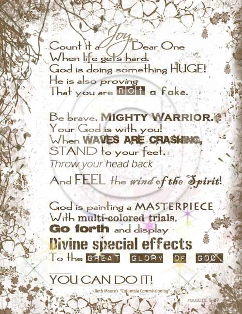 (Click Each Post Title to View Artwork) Below is a piece of worship art I created which was featured on Living Proof Ministries Blog delivered by Beth Moore in her Commission at the end of the Colu...