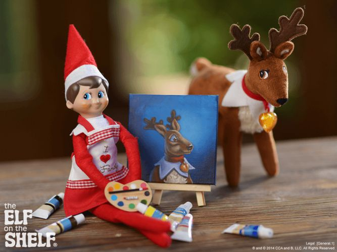 Elf on the Shelf Ideas | A Work Of Art | The Elf on the Shelf®