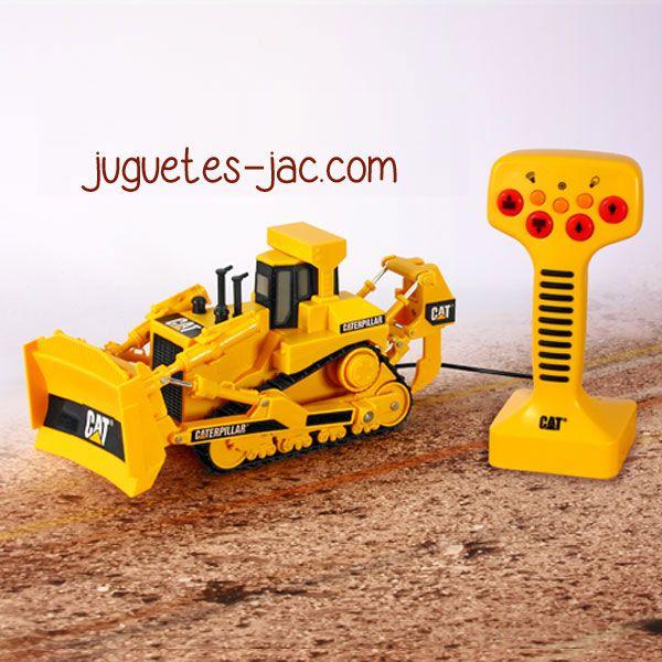 Excavadora de oruga con mando de cable, sonidos y movimientos.